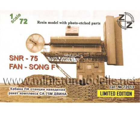 1:72 Missile carrier SA-75M control device- radar SNR-75 Fan Song F Radar military, small batches model