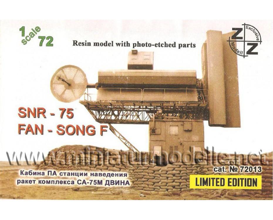 1:72 Missile carrier SA-75M control device- radar SNR-75 Fan Song F Radar military, small batches model