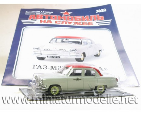 1:43 GAZ 21 T Volga Taxi with magazine #20