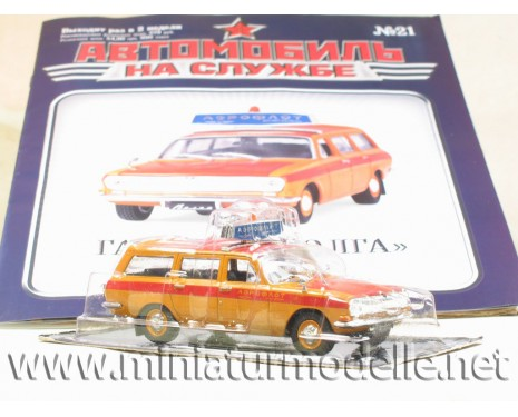 1:43 GAZ 24 2402 Aeroflot with magazine #21