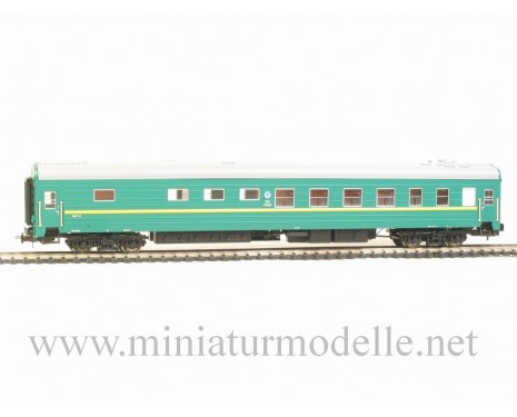 1:87 H0 0221 Long-distance snack bar sleeping car set 2 pcs. type Ammendorf of the RZD green livery, era 5
