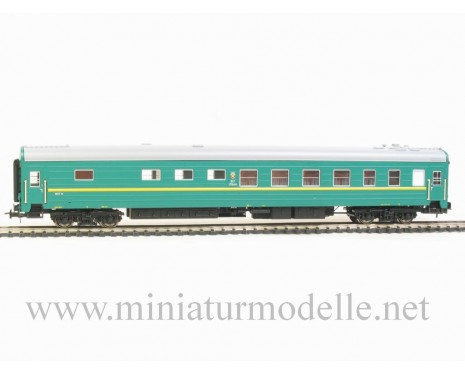 1:87 H0 0220 Long-distance snack bar sleeping car set 2 pcs. type Ammendorf of the SZD green livery, era 4