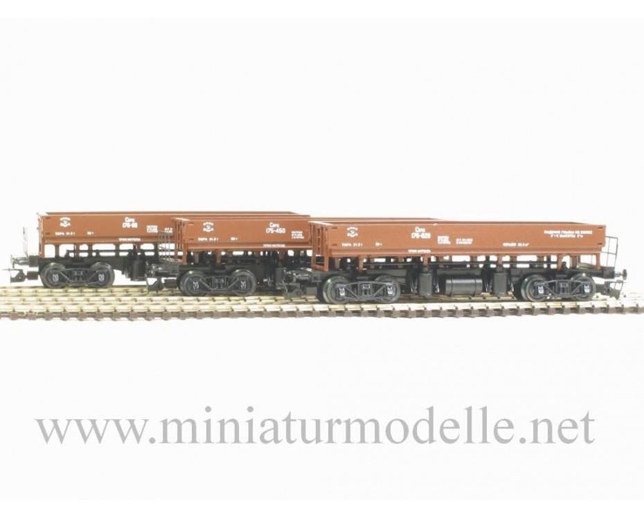 1:120 TT 3606 Dumpcar set of the SZD livery, brown, era 3, 3606, Peresvet by www.miniaturmodelle.net