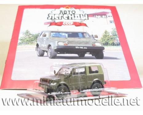 1:43 VAZ 2122 LADA militär mit Zeitschrift #95