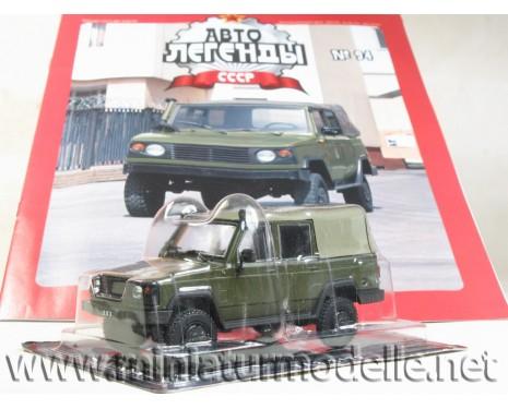 1:43 UAZ 3172 Militär mit Zeitschrift #94