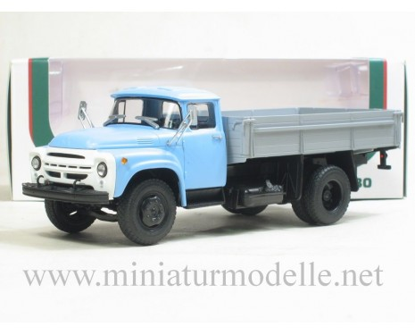 1:43 ZIL 130 previous open side, blue/grey civil