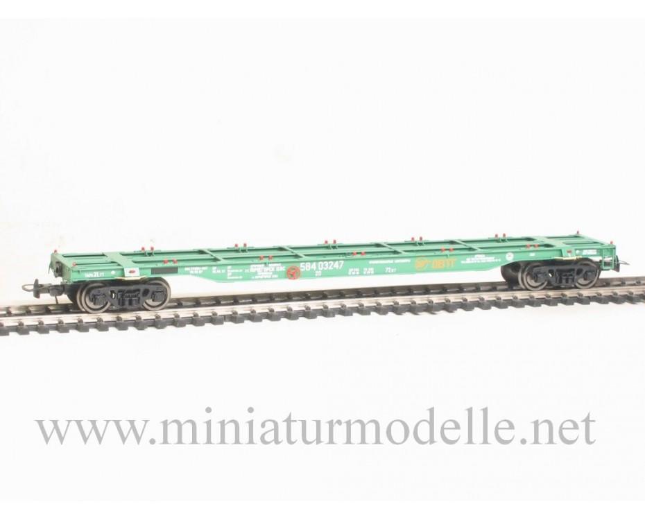 1:87 H0 Container car mod. 13-1223, green, RZD, 5. era. small lot model