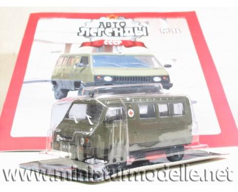 1:43 UAZ 3972 Militär mit Zeitschrift #96