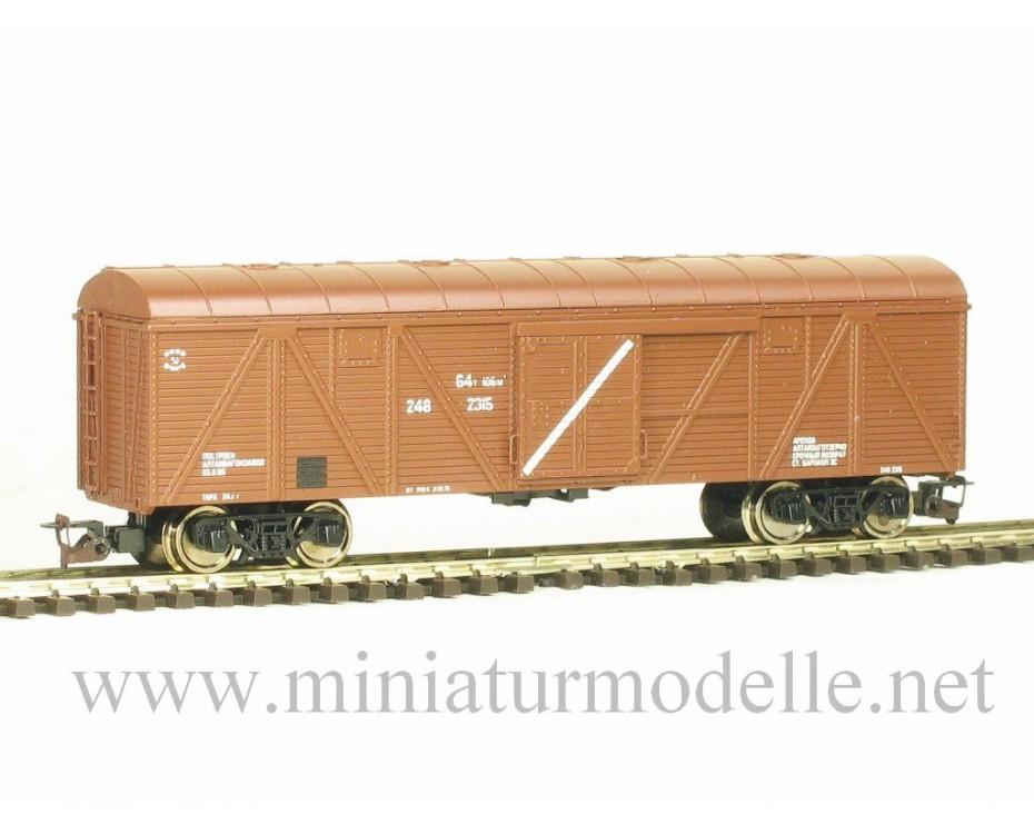 1:120 TT 3521 Reconstructed box car for grain transportation, brown, SZD, era 4, 3521, Peresvet by www.miniaturmodelle.net