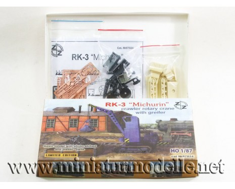 H0 1:87 RK 3 Michurin crawler rotary crane with greifer, small batches model