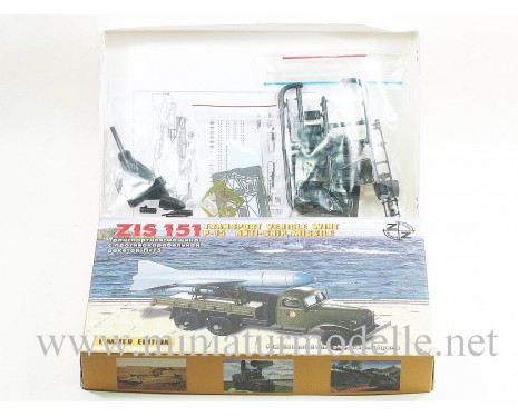 H0 1:87 ZIS 151 transport truck with P-15 anti-ship missile, military, small batches model