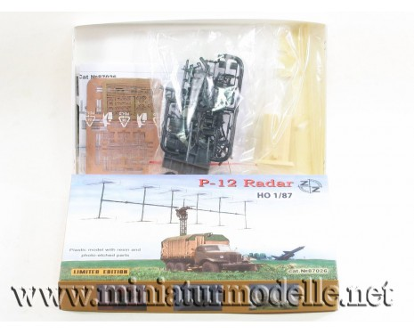 H0 1:87 ZIL 157 with mit radar P-12, military, small batches model