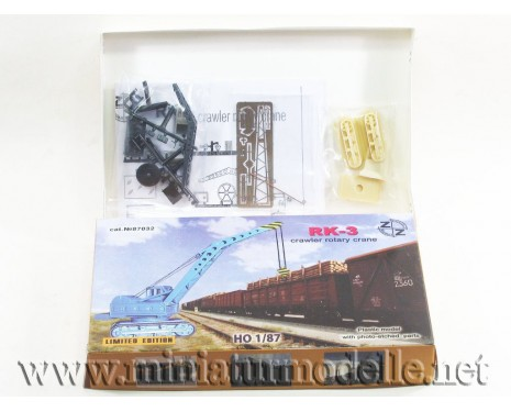 H0 1:87 RK-3 crawler rotary crane Michurin, small batches model