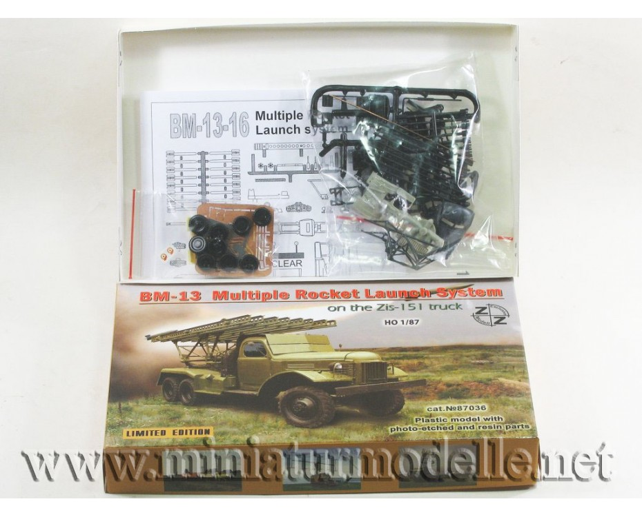 H0 1:87 ZIS 151 BM 13 multiple rocket launch system Stalin's organ, military, small batches model