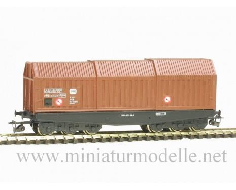 1:120 TT 3631 Blechrollentransportwagen Shis der DB, braun, 5 Epoche