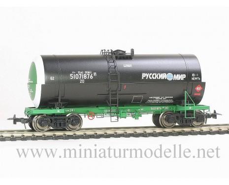 1:87 H0 Kesselwagen mod. 15-1566-2 Russkij Mir zum Transport von Erdöl, RZD 5. Epoche, Kleinserien