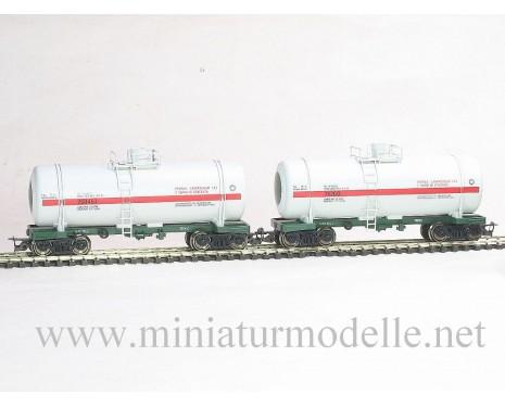 1:120 TT 3702 Kesselwagenset zum Transport von verflussigter Gase der SZD mit verschiedene Betriebsnummern 4. Epoche