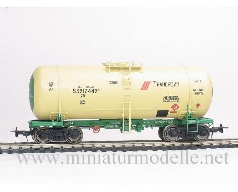 1:87 H0 Kesselwagen mod. 15-1547 TRANSRAIL zum Transport von Benzin der RZD, 5. Epoche, Kleinserie