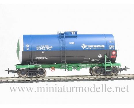1:87 H0 Kesselwagen mod. 15-1566-2 TEK EIROTRANS zum Transport von Erdöl, RZD 5. Epoche, Kleinserie