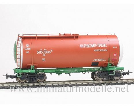 1:87 H0 Kesselwagen mod. 15-1447 Lukoil Trans zum Transport von Erdolrodukte, RZD, 5. Epoche, Kleinserien