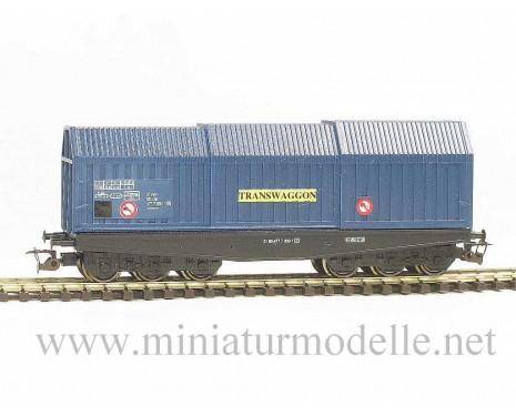 1:120 TT 3633 Coil transport car Shis of the DB, Transwaggon blue, era 4