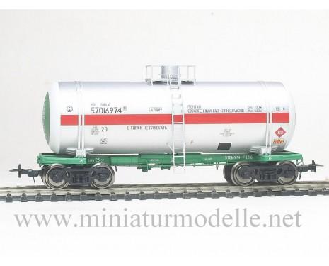 1:87 H0 Kesselwagen mod. 15-1520 zum Transport von verflussigter Gase der SZD, 4. Epoche, Kleinserie