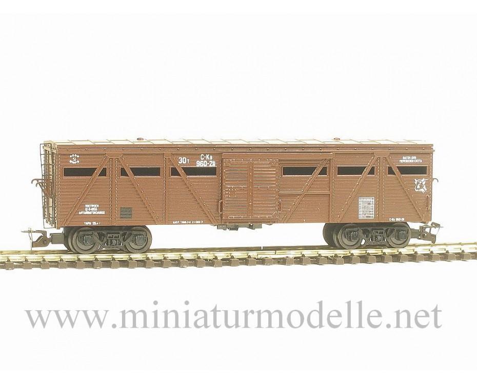 1:120 TT 3541 Stockcar of the SZD livery, brown era 3, 3541, Peresvet by www.miniaturmodelle.net