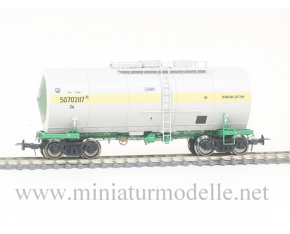 1:87 H0 Tank - thermos wagon mod. 15-1534 for bitumen transport of the SZD livery, era 4, small batches model