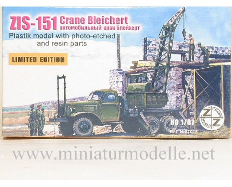 H0 1:87 ZIS 151 Crane Bleichert, military, small batches model