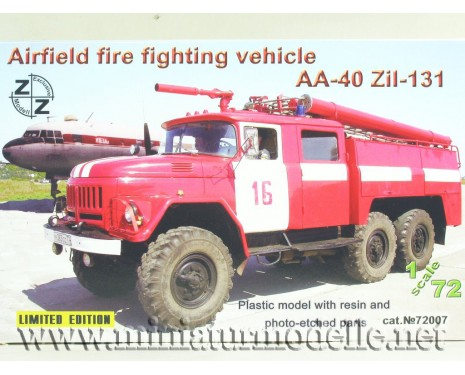 1:72 ZIL 131 Airfield fire fighting vehicle AA-40, small batches model