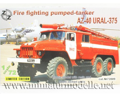 1:72 URAL 375 Fire fighting pumped-tanker AZ-40, small batches model