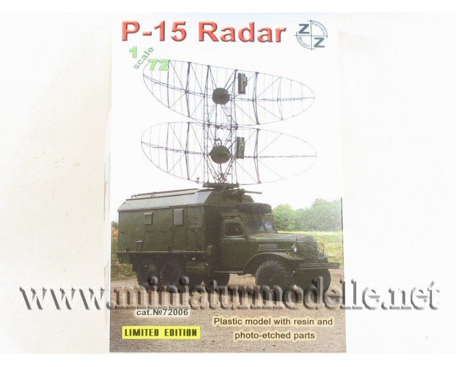 1:72 ZIL 157 with radar P-15, military, small batches model