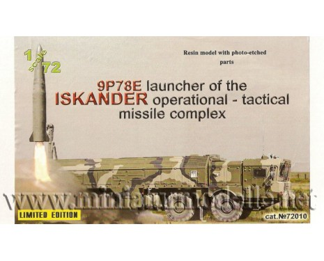1:72 9P78E Laouncher of the ISKANDER operational - tactical missile complex, military, small batches model