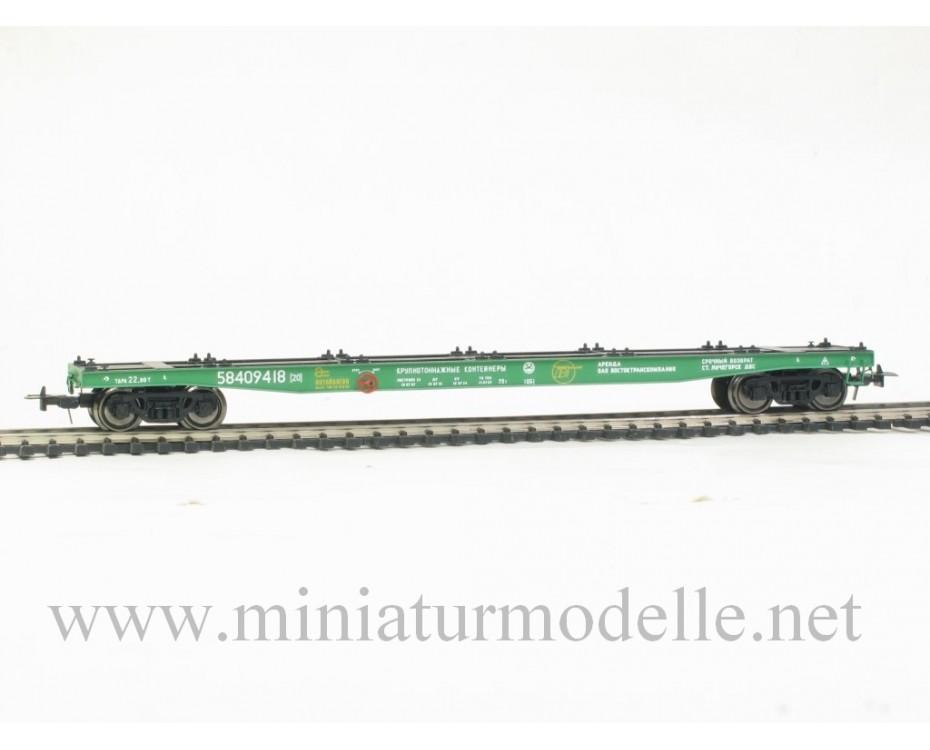 1:87 H0 Containerwagen mod. 13-2116, #58409418, RZD, 5. Epoche, Kleinserie