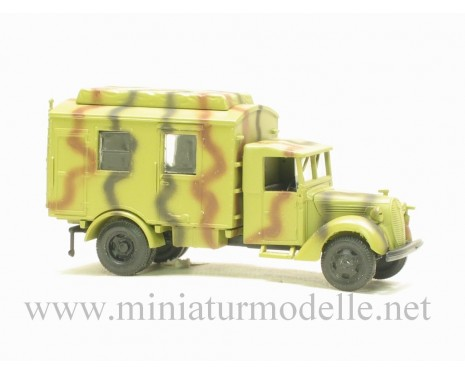 H0 1:87 Ford mit Planenverdeck 3t Funkkoffer, Tarnanstrich Militär