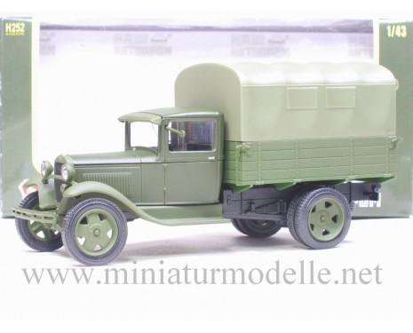 1:43 GAZ AA truck with canvas top, military