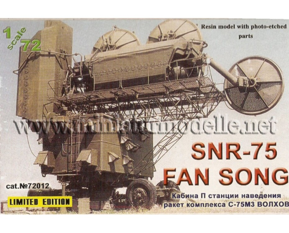 1:72 Missile S-75M Control Radar PW SNR 75 Fan Song Wolchow, military