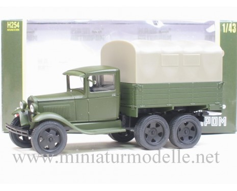 1:43 GAZ AAA truck with canvas top, military