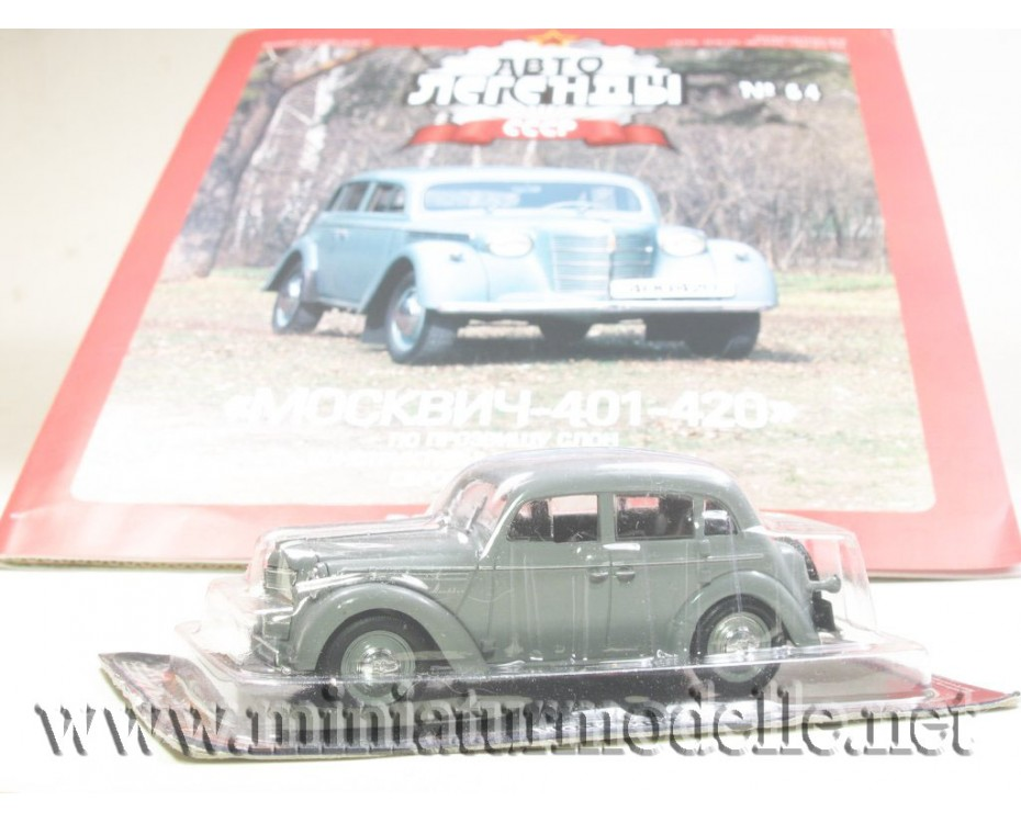 1:43 Moskvitch 401-420 with magazine #64