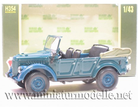 1:43 GAZ 69 A open, blue