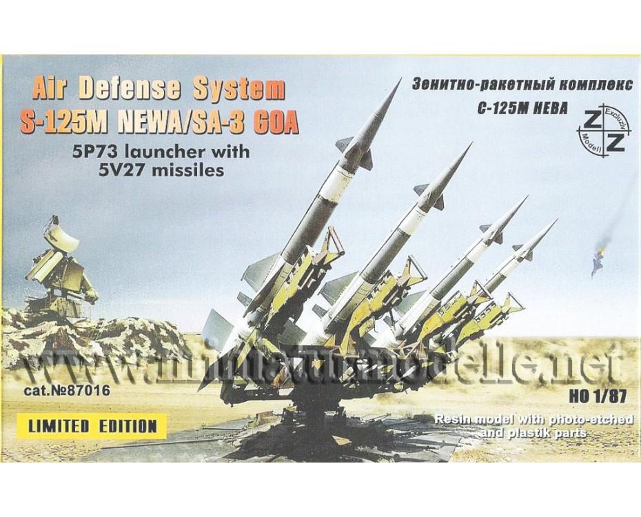 H0 1:87 FlaRakWerf Flugabwehr-Raketen-Werfer S-125M Newa / SA-3 GOA Startrampe militär, Kleinserie