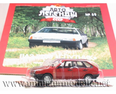 1:43 VAZ 2109 LADA Sputnik with magazine #69