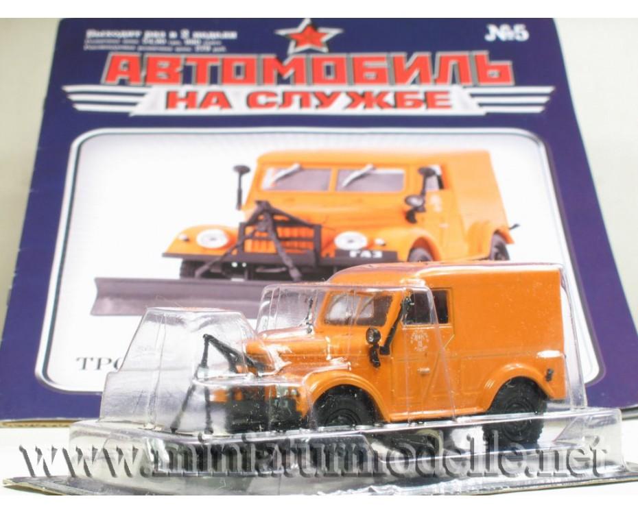 1:43 GAZ 69 T3 snowplow with magazine #7