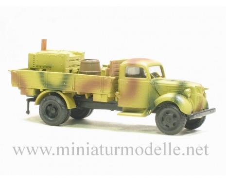 H0 1:87 Ford V 3000 Diesel Pritsche- Feldkuche, Tarnanstrich Militär
