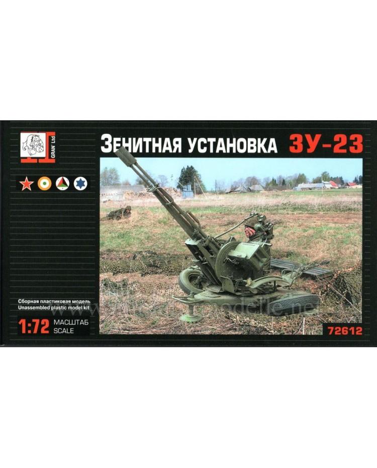 1:72 ZU 23 anti-aircraft twin-barreled gun, kit