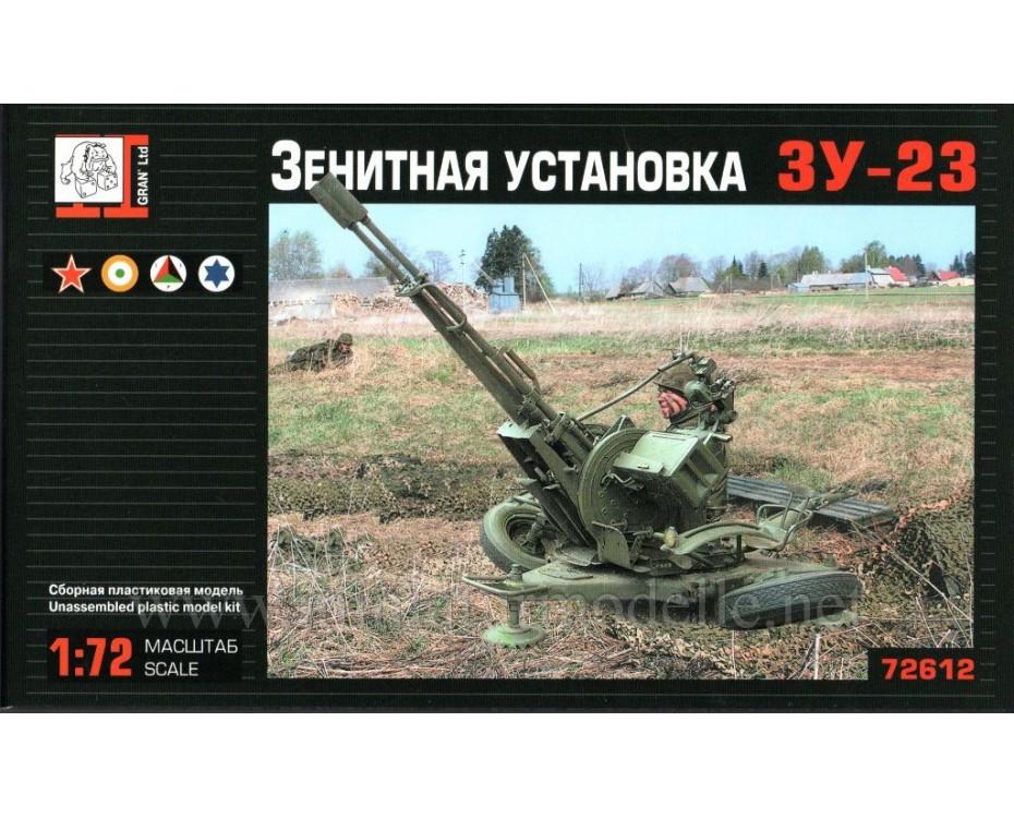 1:72 ZU 23 anti-aircraft twin-barreled gun, kit, 72612, Gran Ltd by www.miniaturmodelle.net