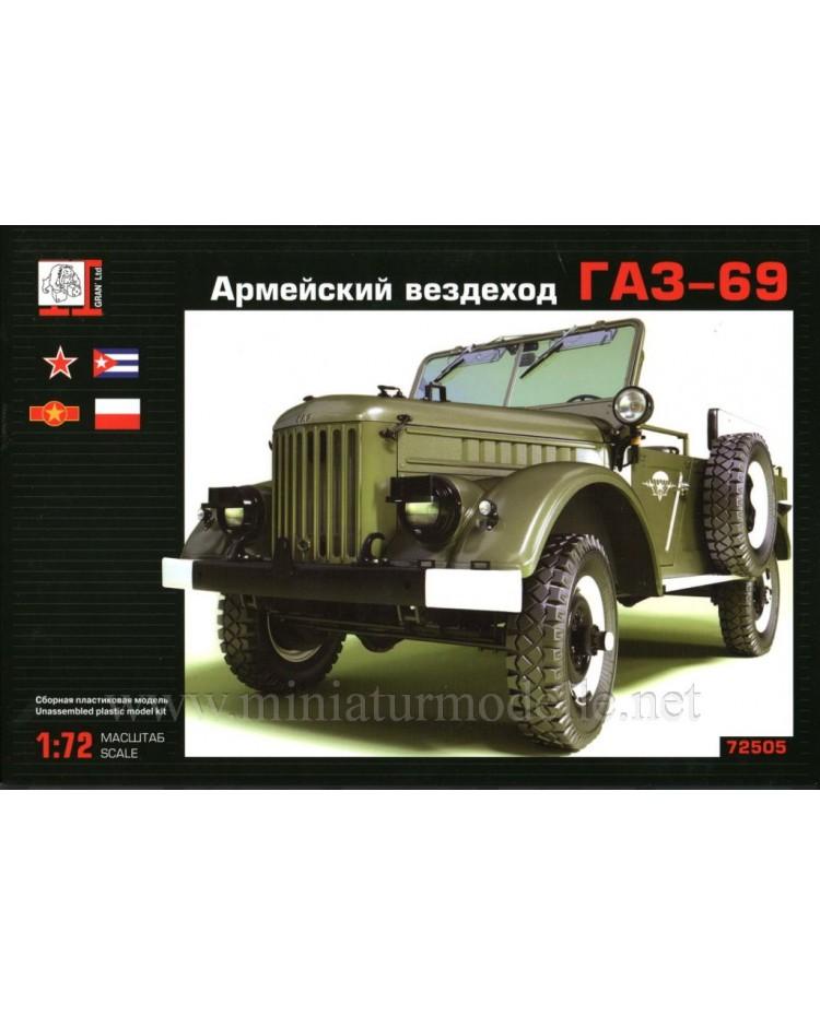 1:72 GAZ 69 light truck military, kit