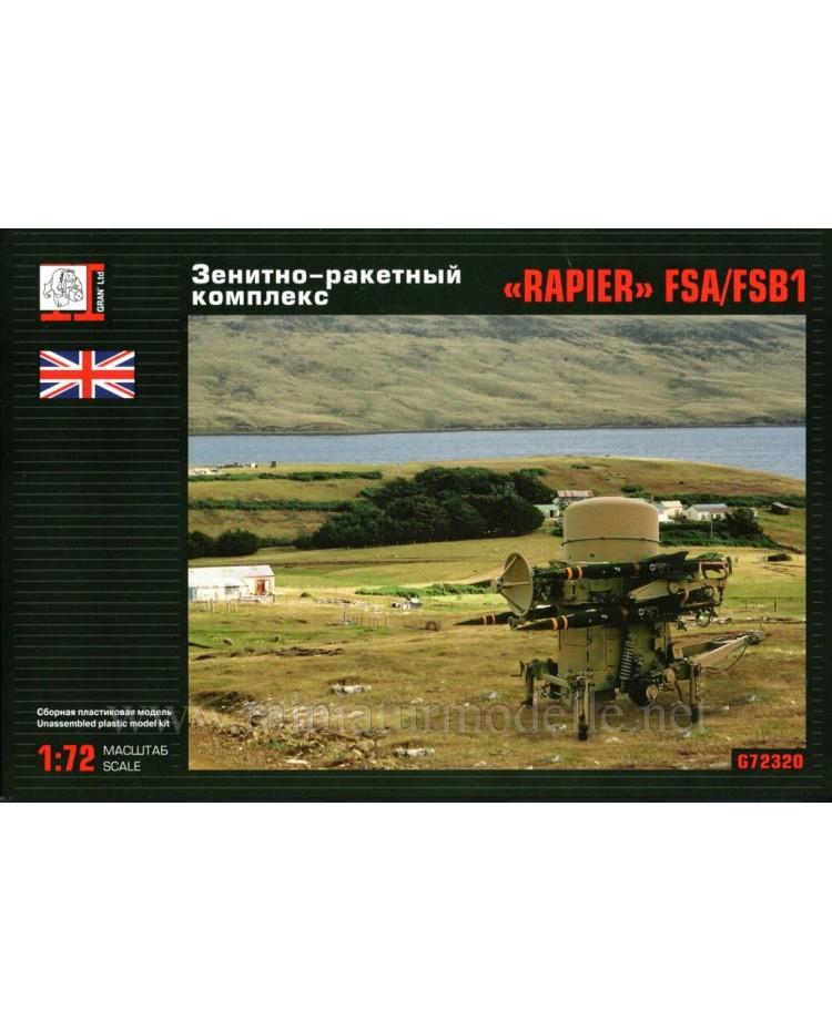 1:72 Rapier FSA FSB1 anti aircraft missile system, kit