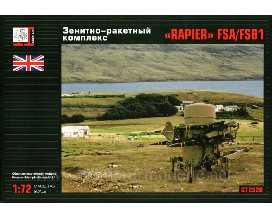 1:72 Rapier FSA FSB1 anti aircraft missile system, kit, G72320, Gran Ltd by www.miniaturmodelle.net