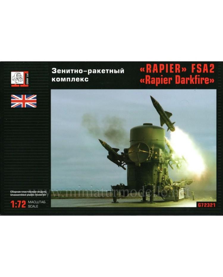 1:72 Rapier Darkfire FSA2 anti aircraft missile system, kit